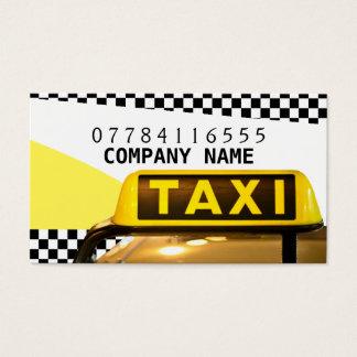 Muestra y tiras amarillas del taxi tarjeta de visita