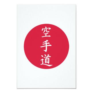 Muestras chinas del karate invitación 8,9 x 12,7 cm