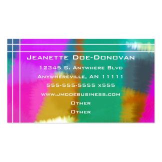 Muestras del color con la tarjeta de visita linear