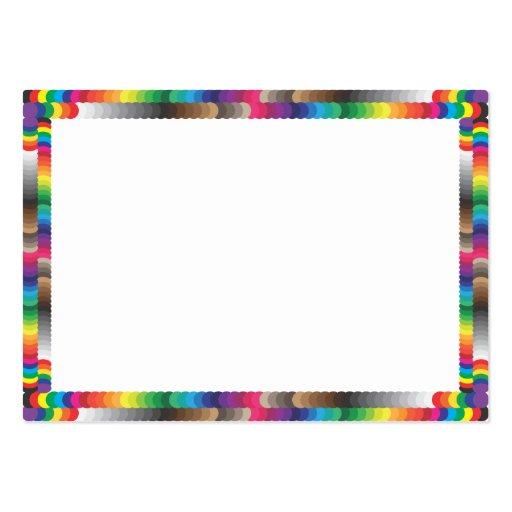 muestras espectrales del marco y del color tarjetas de negocios