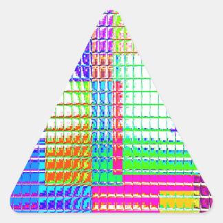 Muestras reconstruidas pegatina triangulo