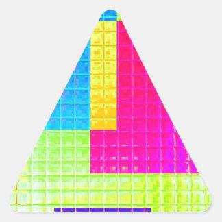 Muestras reconstruidas pegatina trianguladas personalizadas
