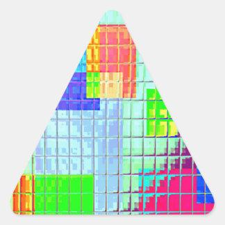 Muestras reconstruidas calcomanías trianguladas personalizadas