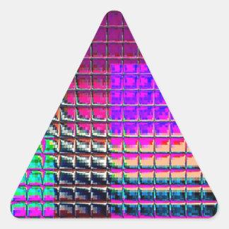 Muestras reconstruidas calcomania de triangulo personalizadas