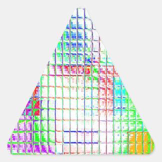 Muestras reconstruidas calcomanías triangulos personalizadas