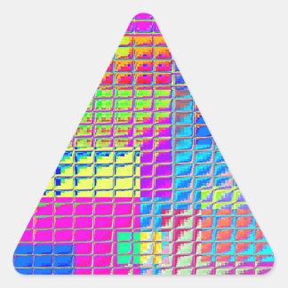 Muestras reconstruidas calcomanía triangulo personalizadas