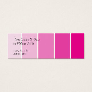 Muestras rosadas brillantes de la pintura tarjeta de visita pequeña