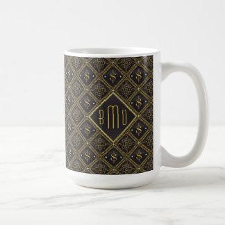 Muestras y diamantes de dólar taza de café