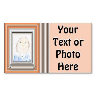 Muestre apagado el arte o la foto de su niño tarjetas de visita magnéticas (paquete de 25)