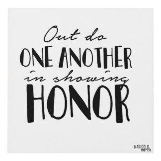 Muestre el honor cuadro