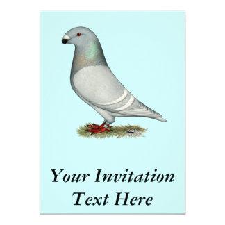 Muestre la gallina del concepto del corredor invitación 12,7 x 17,8 cm