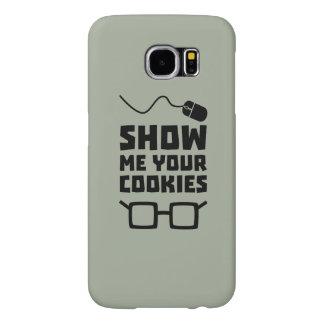 Muéstreme su friki Zb975 de las galletas Funda Samsung Galaxy S6
