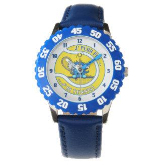 Muestro a Unicornio Azul no puedo, tengo Tenis Reloj De Mano