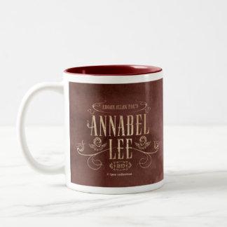 """Mug """"Annabel Lee Draw"""" Taza De Dos Tonos"""