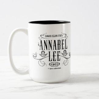 "Mug ""Annabel Lee"" Taza De Café De Dos Colores"