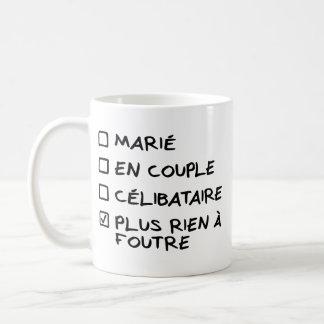 """Mug blanco """"más nada que debe ponerse"""" - versión taza de café"""