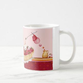 Mug decoración repostería ilustración taza de café