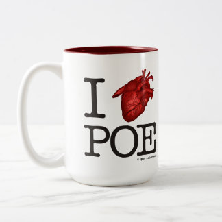 """Mug """"Poe Heart"""" Taza De Dos Tonos"""