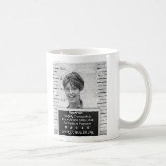 Mugshot de Sarah Palin Taza De Café