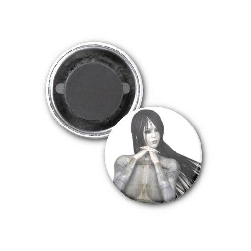 Mujer 3 de Biomechannequin - maniquí del gótico 3D Imán De Frigorífico
