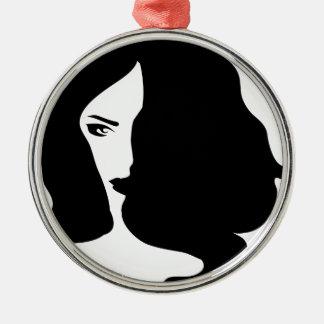 mujer adorno de cerámica