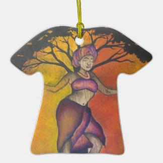 Mujer africana ornamentos de navidad