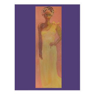 Mujer africana majestuosa postal