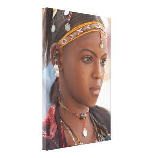 Mujer africana original impresión en lienzo