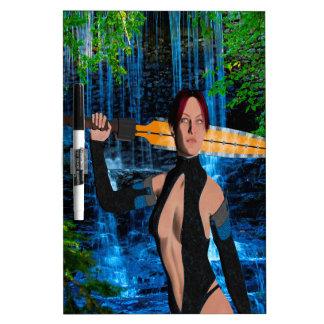 Mujer amazónica pizarra blanca