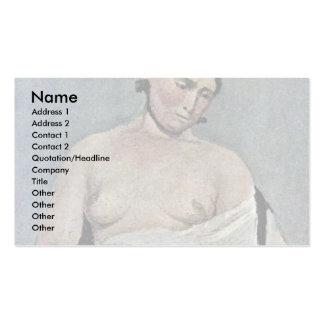 Mujer asentada con el pecho desnudo, por Corot Jea Tarjeta De Visita