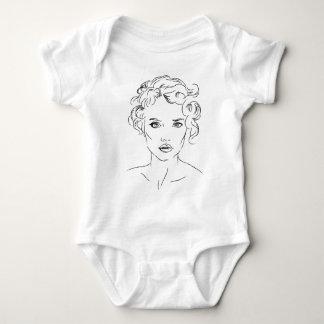 mujer body para bebé