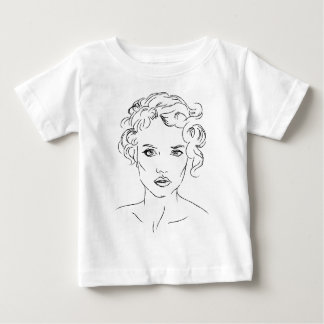 mujer camiseta de bebé