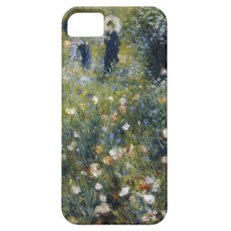 Mujer con el parasol en un jardín funda para iPhone SE/5/5s