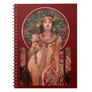 Mujer con el vidrio de Champán Cuaderno
