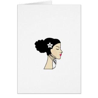 mujer con un bollo tarjeta de felicitación