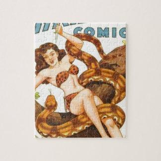 Mujer con una serpiente puzzle