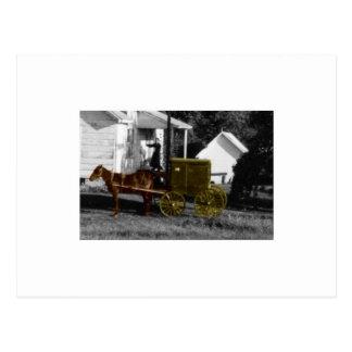 mujer de Amish Postal