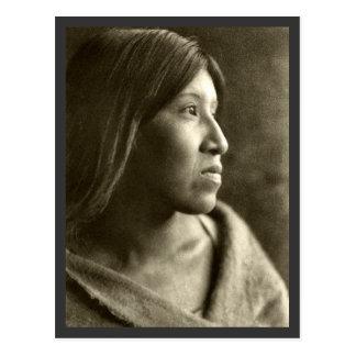 Mujer de Cahuilla del desierto Postal