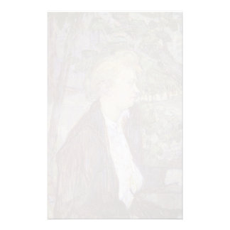 Mujer de Enrique de Toulouse-Lautrec en el jardín Papelería Personalizada