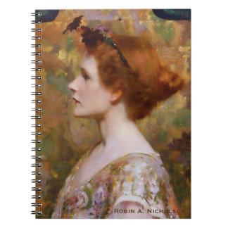 Mujer de Herter con el pelo rojo personalizado Cuaderno