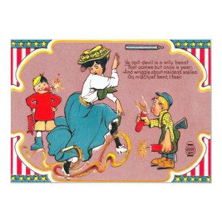 Mujer de la broma de los fuegos artificiales de invitación 12,7 x 17,8 cm
