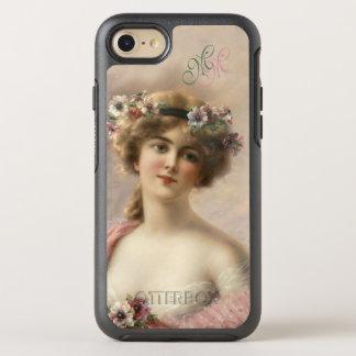 Mujer de la flor del vintage de la nostalgia del funda OtterBox symmetry para iPhone 8/7