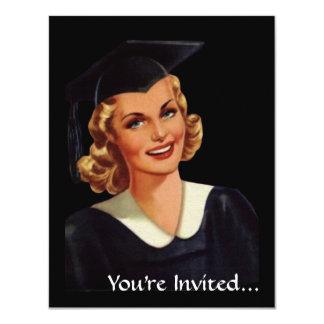 Mujer de la graduación de Co-Ed de la universidad Invitación 10,8 X 13,9 Cm