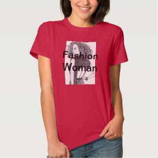 Mujer de la moda camiseta