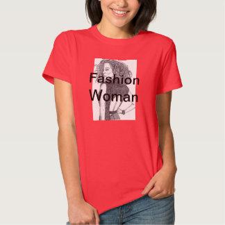 Mujer de la moda camisetas