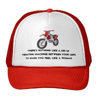 Mujer de la motocicleta gorras