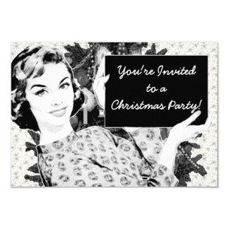 mujer de los años 50 con una muestra V2 del Invitación 8,9 X 12,7 Cm