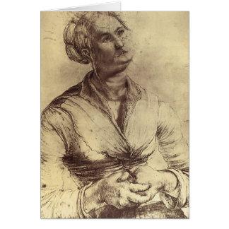 Mujer de Matías Grünewald- que mira para arriba Tarjeton