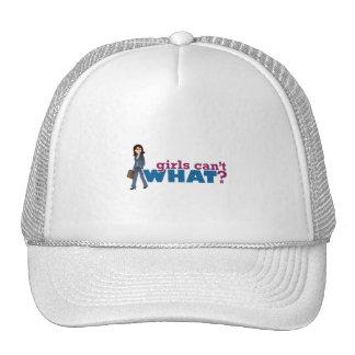 Mujer de negocios gorras de camionero