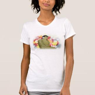 mujer del buda camisetas